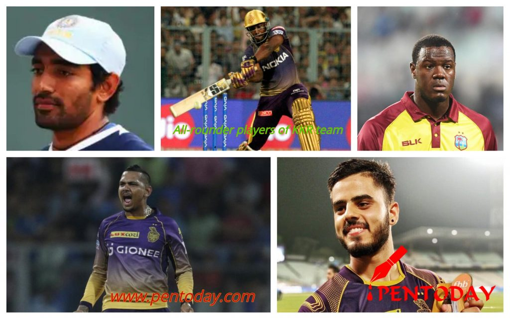 All rounder players of KKR team ipl 2019