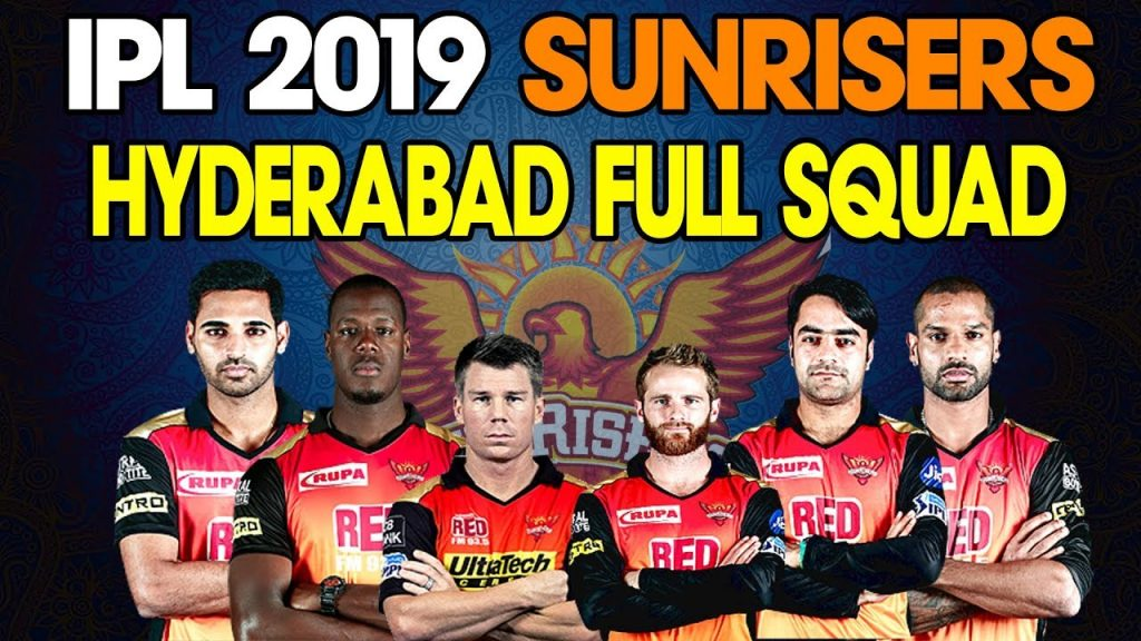 Sunrisers Hyderabad Players name